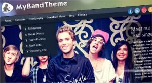 Pop 2 Band Website Color Scheme