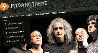Rock 2 Band Website Skin
