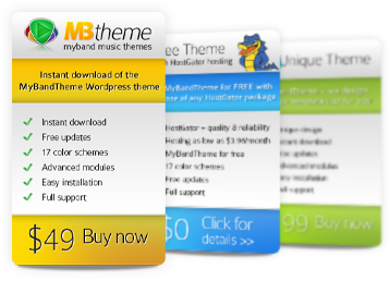 MyBandTheme Purchase Options