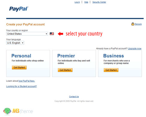 How to make a PayPal account 2